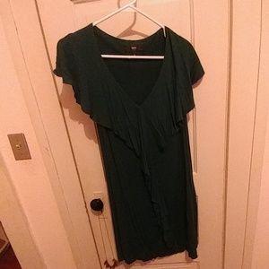 Green mini dress or tunic